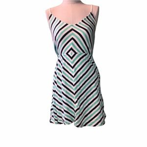 I love H81 small white and blue stripped Sundress